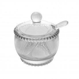 acucareiro de cristal com tampa e colher pearl transparente 28379 wolff casa cafe mel 1