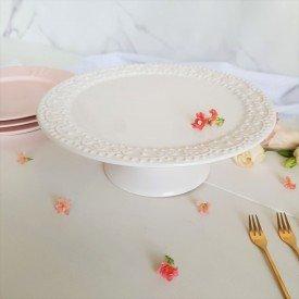 61678 prato bolo com pe ceramica esparta branco porto brasil casa cafe e mel