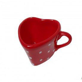 xicara para cha ceramica coracao poa vermelho 09 443 silveira casa cafe mel 5