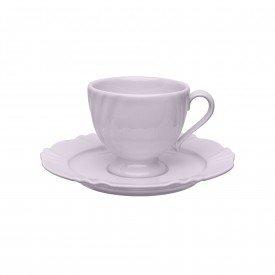 xicara cha com pires porcelana 200ml soleil fabula 101857 oxford casa cafe mel