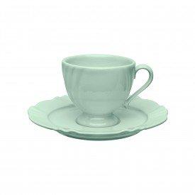 xicara cha com pires porcelana 200ml soleil vale 101914 oxford casa cafe mel