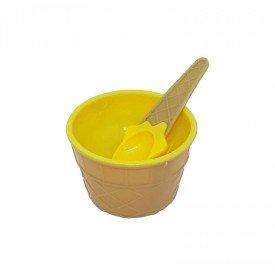 pote de sobremesa plastico sorvete com colher colorida amarelo trc7623 am casa cafe mel 2