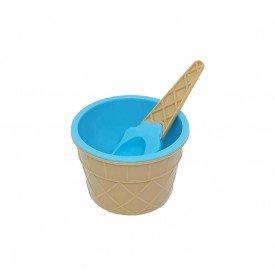 pote de sobremesa plastico sorvete com colher colorida azul trc7623 az casa cafe mel 2