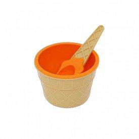 pote de sobremesa plastico sorvete com colher colorida laranja trc7623 l casa cafe mel 2
