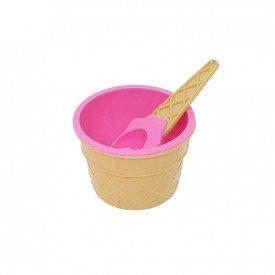 pote de sobremesa plastico sorvete com colher colorida rosa trc7623 r casa cafe mel 2