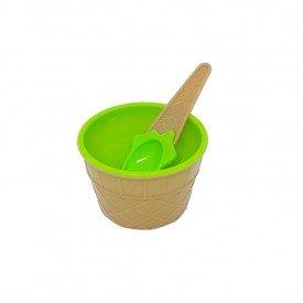 pote de sobremesa plastico sorvete com colher colorida verde trc7623 v casa cafe mel 2