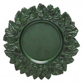 sousplat leaf olive antique verde 202151 copa mel casa cafe mel 1