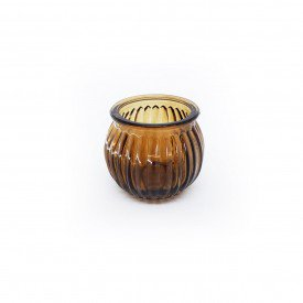 castical de vidro porta vela marrom hd02101 ma casa cafe mel 1