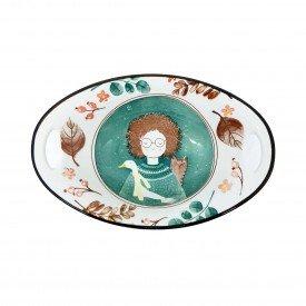 travessa oval ceramica com alca esta menina 062149 pra caza casa cafe mel 1a