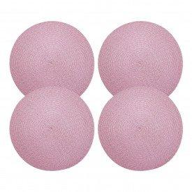 americano redondo trama individual rosa o38cm cs0103 rkit4 gzt casa cafe mel