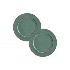sousplat chá patinado de plastico opala verde 7612 kit2 lyor casa cafe e mel 1