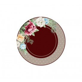 capa para sousplat poa com flores sp 344 signora casa cafe mel 1