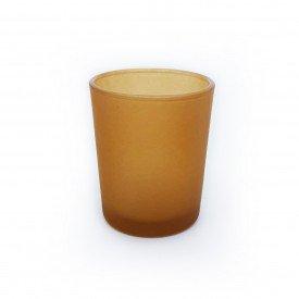 castical de vidro porta vela fosco marrom ct1508 casa cafe mel 1