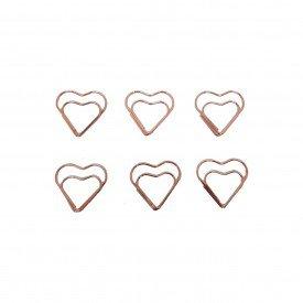 clipes de metal decorativo coracao rose he60105 casa cafe mel 1