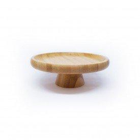 prato com pe de bambu o18cm 1558ly lyor casa cafe mel