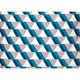 jogo americano california geometrico rosa e azul 2053 2053 ra cortbras casa cafe mel