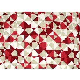 jogo americano agata geometria vermelho com bege 7513 ag cortbras casa cafe mel