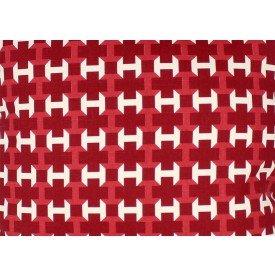 jogo americano agata geometria vermelho com bege 7514 cortbras casa cafe mel