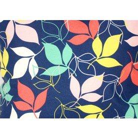 jogo americano aquamarine azul folhas colorida 516 cortbras casa cafe mel