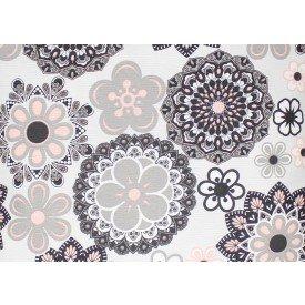 jogo americano aquamarine floral branco 514 cortbras casa cafe mel