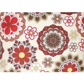 jogo americano aquamarine flores vermelhas 522 cortbras casa cafe mel