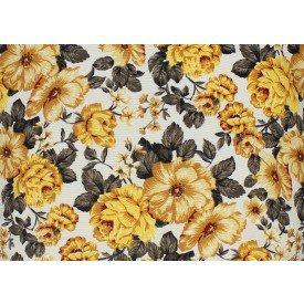 jogo americano belize flores amarela 973 cortbras casa cafe mel