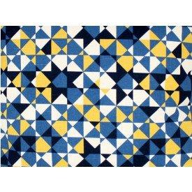 jogo americano de tecido agata cortbras geometria azul com amarelo 7518 casa cafe e mel 1