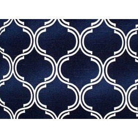 jogo americano de tecido cortbras azul com detalhe branco7520 casa cafe e mel 1