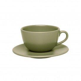 xicara cha porcelana 200ml unni oliva 102599 oxford casa cafe mel