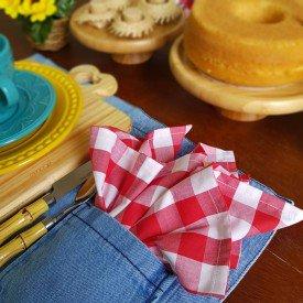22094 guardanapo de tecido individual amora casa xadrez vermelho casa cafe mel