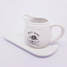 8138 LY   Leiteira com bandeja casa caf mel