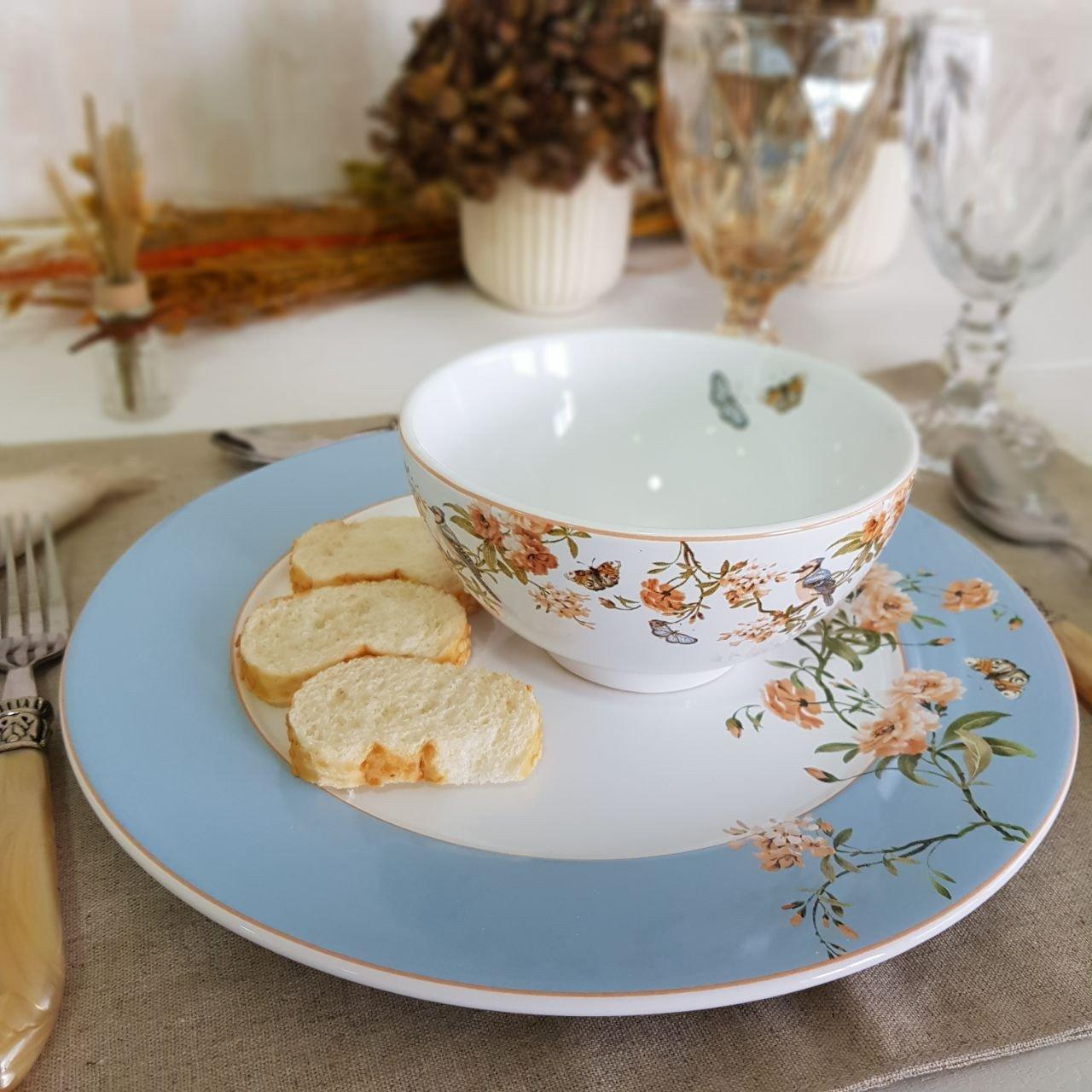 172823 bowl tigela ceramica peonies 6 pecas scalla casacafe mel 2
