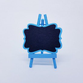 Marcador de Lugar de Madeira Individual Casa Caf Mel   Azul