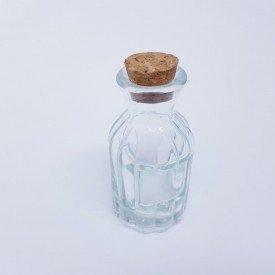 Mini Vaso Decorativo de Vidro 85cm Casa Caf Mel   Transparente 2