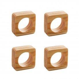 argola para guardanapo quadrado madeira 4 pecas 13374 rojemac casa cafe mel 7
