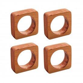 argola para guardanapo quadrado madeira 4 pecas 13375 rojemac casa cafe mel 9