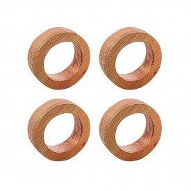 argola para guardanapo circulo madeira liptus 4 pecas 13373 rojemac casa cafe mel 8