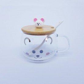 Aucareiro de Vidro com Ala Mouse Happy 2