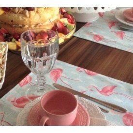 22020 americano de tecido dupla face amora casa flamingos casa cafe mel