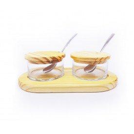 acucareiro duplo com suporte de madeira 13454 rojemac casa cafe mel 1