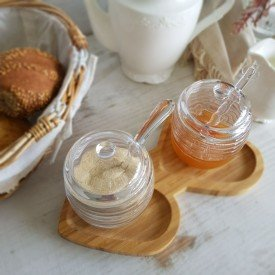 7443 meleira de cristal com tampa e pegador 210ml lyor colmeia casa cafe mel 5