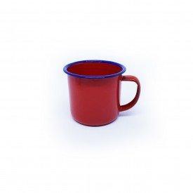 caneca de metal retro esmaltada vermelho 3568 vm casa cafe mel 1