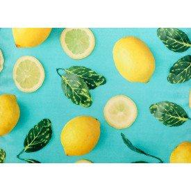 jogo americano de tecido citrus verde agua com limoes 8091 cortbras casa cafe mel