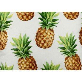 jogo americano de tecido citrus branco com abacaxi 8081 cortbras casa cafe mel