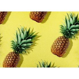 jogo americano de tecido citrus amarelo abacaxi 8082 cortbras casa cafe mel