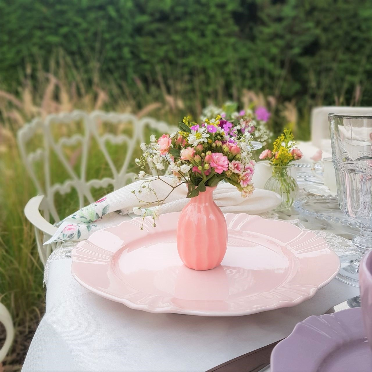 089847 prato para sobremesa 6 pecas de porcelana blush oxford casa cafe mel 2
