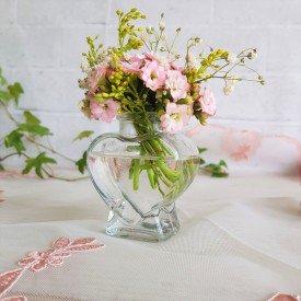 22mel mini vaso de vidro em forma coracao 7 5cm transparente casa cafe mel 1