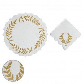 americano e guardanapo tecido percal 200 fios com bordado dourado 99744 d a casa cafe mel