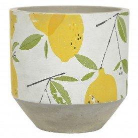 vaso decorativo de cimento limao siciliano 14x14cm 68984001 d a casa cafe mel