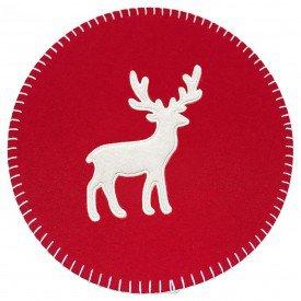 americano redondo feltro rena de natal 35x35cm vermelho 64158001 d a casa cafe mel